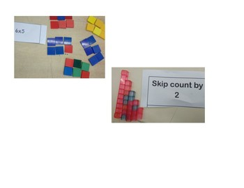 cards for addition, skip counting and multiplication centres
