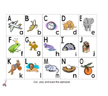 cards with alphabet