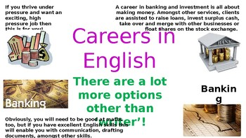 careers in english display