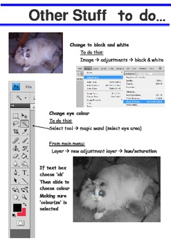 caricatures or weird animals using photoshop