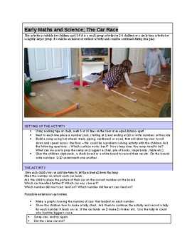cars and ramps: play based  number, measurement, science and graphing activity