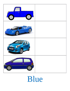 Vehicle Themed Matching Activity