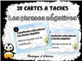cartes à tâches : les phrases négatives