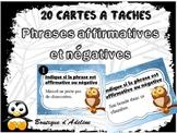 cartes à tâches: phrase affirmative/négative