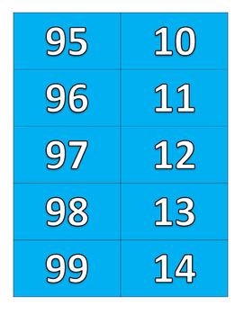 cartes de nombres