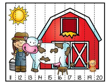 casse-tête numériques ( On the farm) À la ferme