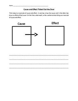 cause and effect exit ticket practice