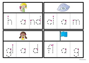 Blends Write and Wipe Cards - Phonics - Consonant Blends ccvc and cvcc