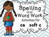 ce-soft c Spelling and Word Work Printables