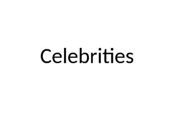 celebrities powerpoint