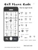 First 100 Words Sight Words Cell Phone Codes Grade K/1