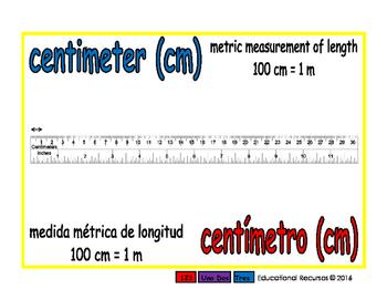 centimeter/centimetro meas 1-way blue/rojo