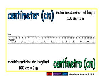 centimeter/centimetro meas 1-way blue/verde