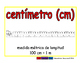centimeter/centimetro meas 2-way blue/rojo