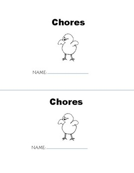 ch Chores Phonogram Early Emergent Reader Book