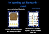 'ch' PHONIC flashcards and chart - 17 sounding out flashcards + chart PHONICS