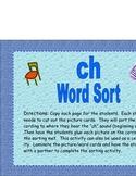 """ch"" Word Sort"