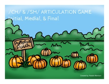 /ch/ and /sh/ Pumpkin Articulation Game