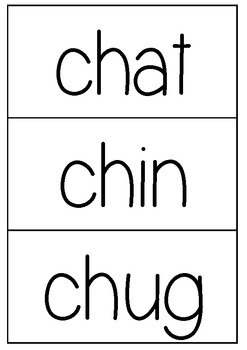 'ch' decodable word flashcards