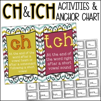 ch or tch Anchor Chart & Activity