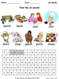 FREE ch phonics lesson plans, worksheets and other teaching resources