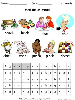 "ch"" and ""sh"" Sounds Matching Activity Worksheet - worksheet"