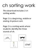 ch sorting work