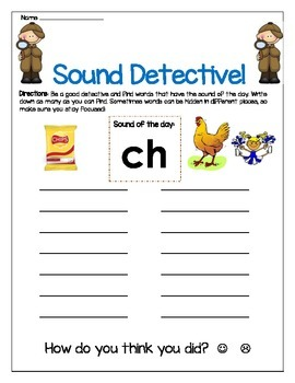 ch sound Write The Room Worksheet