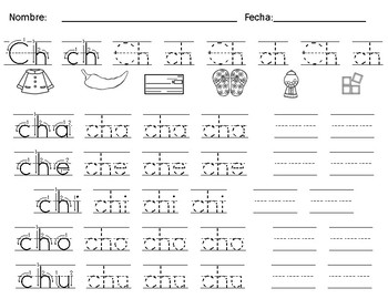 Cha Che Chi Cho Chu By Bilingual Printable Resources Tpt