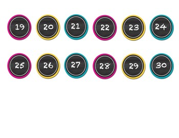 chalboard theme number circles for student numbers