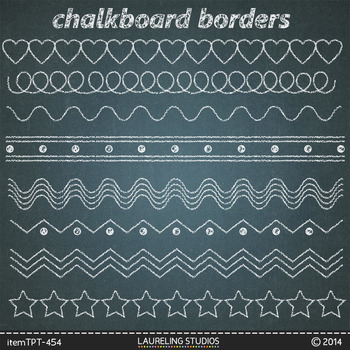 Clipart Chalk Borders With  Chalkboard Backgrounds