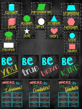 chalkboard theme classroom decor bundle (charts, posters, labels and much more)