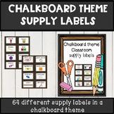 chalkboard theme classroom decor supply labels