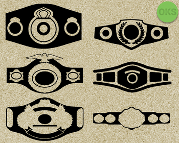 championship belt SVG cut files, DXF, vector EPS cutting file instant download