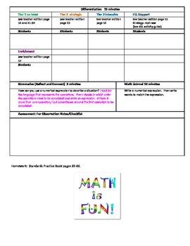 chapter 1 Lesson 10 Grade 5 Go Math Lesson Plan