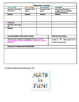 chapter 1 Lesson 4 Grade 5 Go Math Lesson Plan