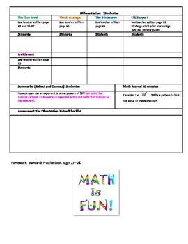 chapter 1 Lesson 4 Grade 5 Go Math Lesson Plan