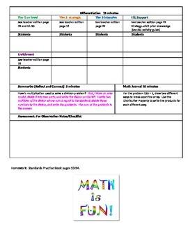 chapter 1 Lesson 8 Grade 5 Go Math Lesson Plan