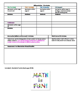 chapter 1 Lesson 9 Grade 5 Go Math Lesson Plan
