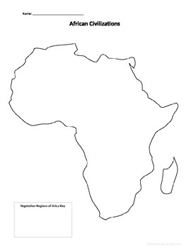 chapter 8 African Civilizations Map Activity