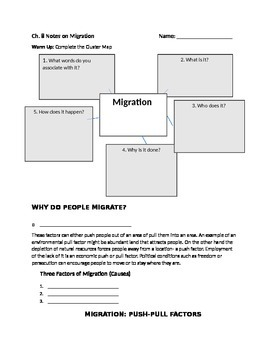 chapter 8 African civilizations push-pull factors of migration FIB notes for PPT