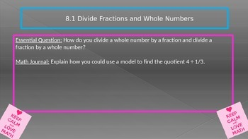 chapter 8 Go Math Essential Questions and Journal Writing Prompts