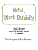 chapter questions for Bud, Not Buddy by:Christopher Paul Curtis