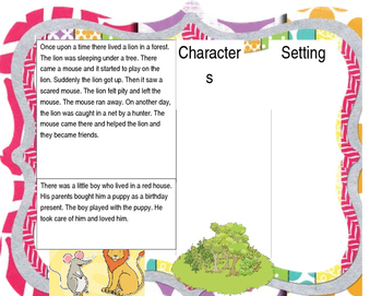 character setting - comprehension