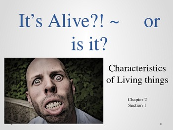characteristics of LIVING THINGS presenation