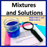 Properties of Matter Mixtures and Solutions 5th Grade