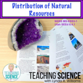 Distribution of Resources NGSS MS-ESS3-1.