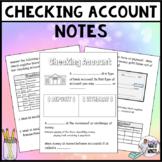 checking account notes