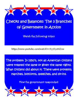 checks and balances: government in action