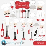chef kitchen clipart commercial use, vector graphics, digital clip art - CL557
